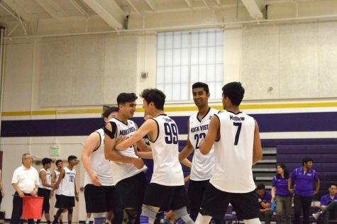 MVHS wins the game, moving past Amador Valley High School to play Clovis High School in the second round of the NorCal Boys Volleyball Championship.