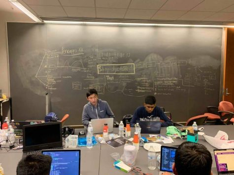 App and Web Development Club officers compete at the University of Pennsylvania Hackathon