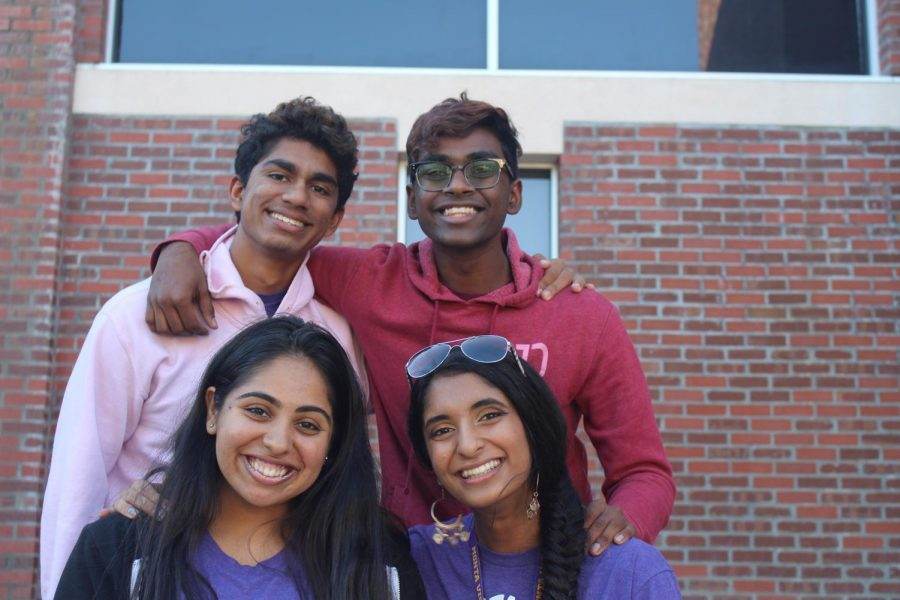 Andaaz captains Vega Jethani, Akshat Rohatgi, Sachi Roy, and Surya Ramesh for the 2019-20 school year. Photo by Shreshta Ranganathan