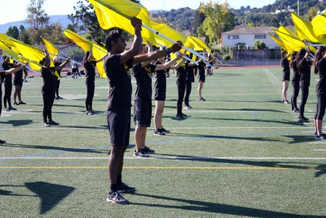 Rookie seniors in Color Guard