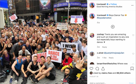 Dancer and Emmy award winning choreographer Travis Wall reacts to Good Morning America host Lara Spencer's comment through a series of Instagram posts.