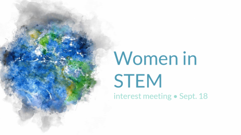The opening slide from the WiSTEM interest meeting presentation. Slide used with permission from Claire Wen
