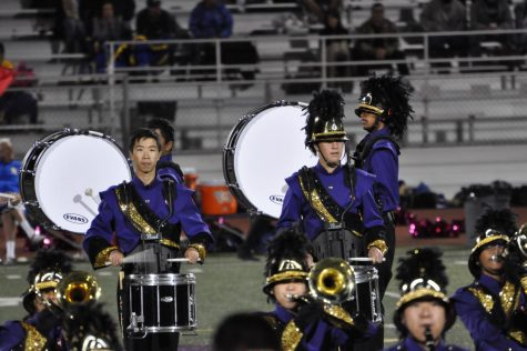 MV Marching Band performs at one of their home games. Photo courtesy of Music at Monta Vista.
