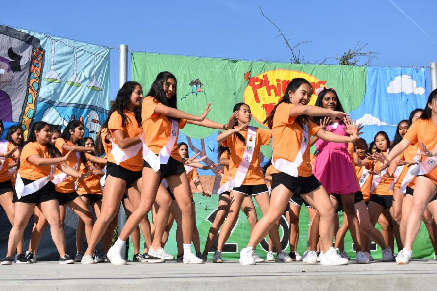 The+Class+of+2021+performs+their+first+dance+of+the+skit+with+girls+dressed+as+The+Fireside+Girls+from+%22Phineas+and+Ferb.%22