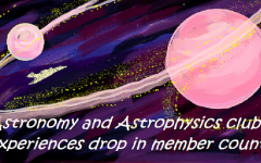 Astronomy club experiences drop in member count
