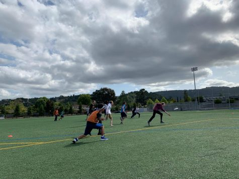 MVUF holds their weekly meetings in which they play ultimate frisbee on the Monta Vista lower field. Photo used by Niko Gustafson