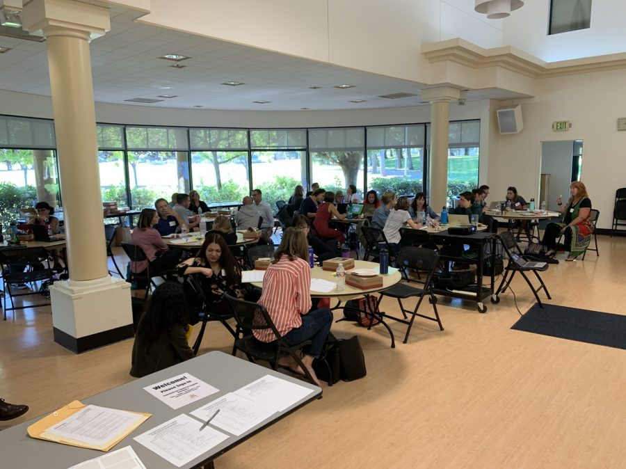 English teachers from all five FUHSD high schools gather at the Quinlan Community Center to learn about equity and social justice in their classrooms
