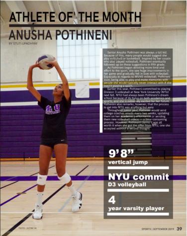 Athlete of the Month: Anusha Pothenini