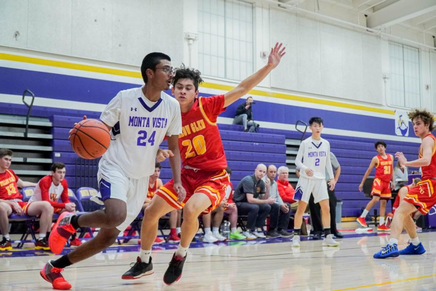Senior Sanjay Gollapudi passes by a Willow Glenn defender in hopes for a shot opportunity early on into the second period.