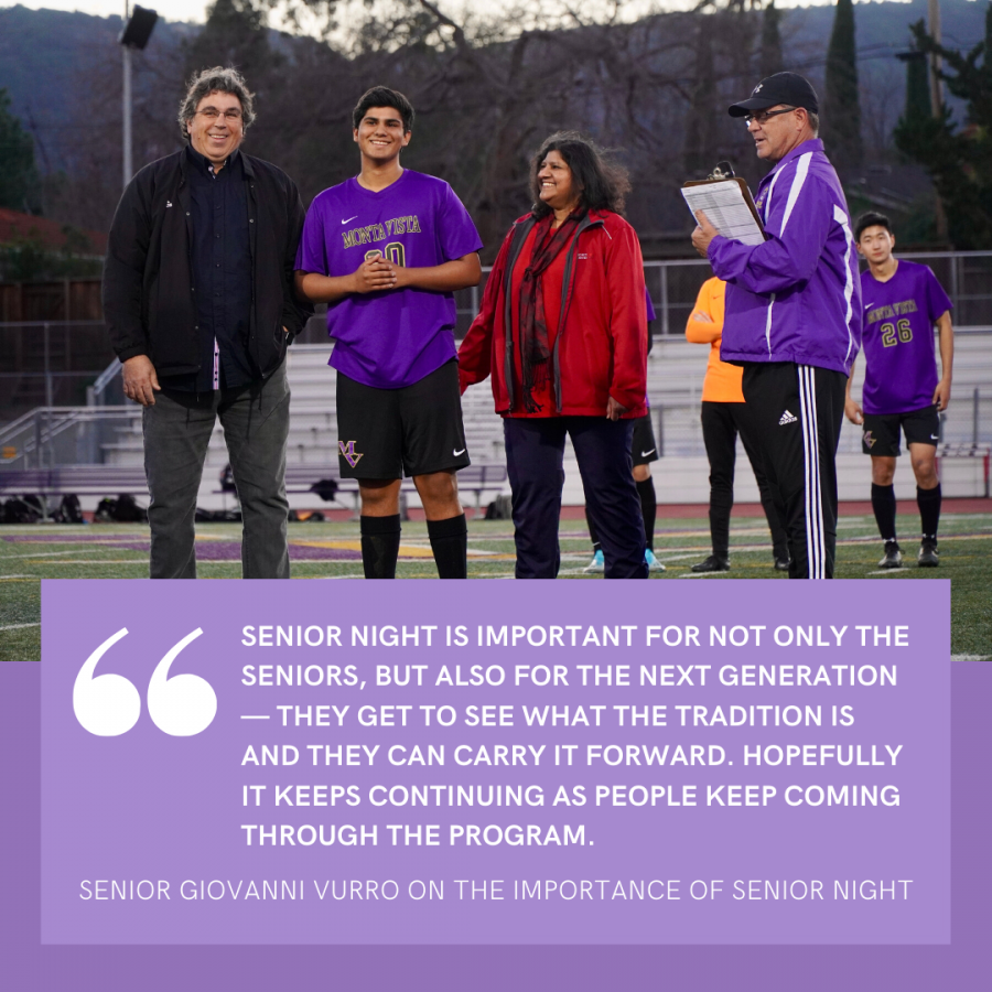 Senior+Giovanni+Vurro+shares+the+importance+of+senior+night.+Photo+by+Justine+Ha