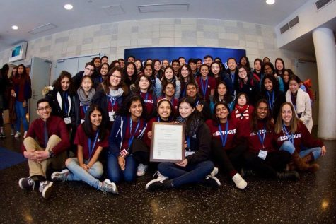 El Estoque members receive a Gold Crown award at the 2018 CSPA Spring Convention. Photo by Alyssa Hui