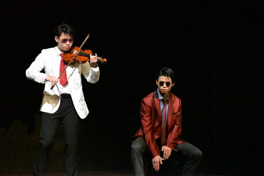 Juniors Eric Zheng and Daniel Kao perform at MV SNL with their band OvtaTvn.