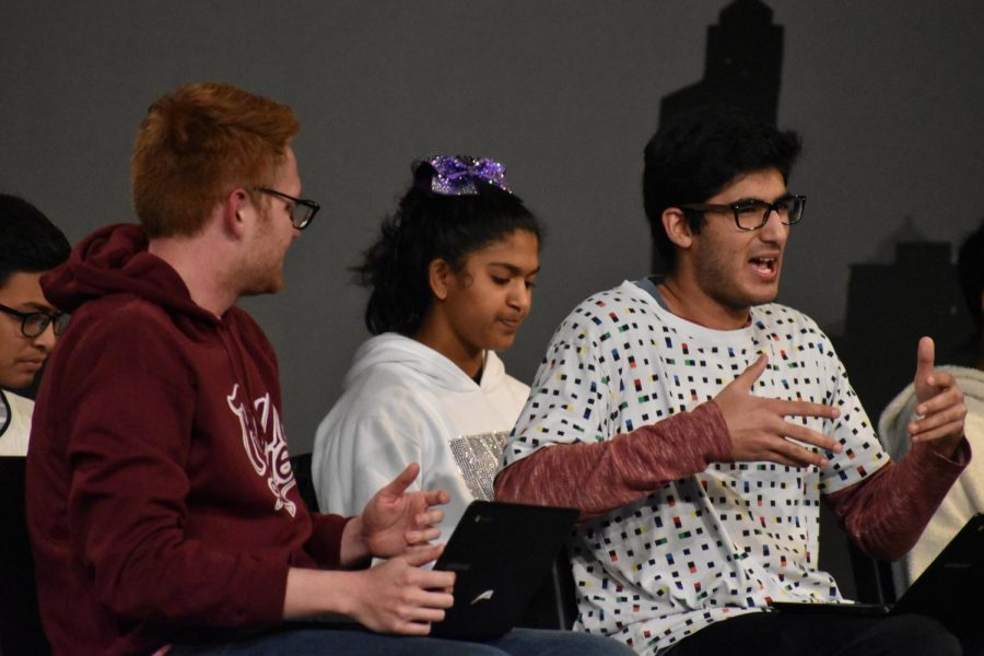 """The second skit of the night, """"Career Placement,"""" was directed by juniors Akshara Kuduvalli and Nicholas Yung. The skit followed the disappointing results of one teenager's career placement test in comparison to his peers.   """"The best part is getting to watch the show from backstage and see all your hard work be put on stage and seeing everyone have a good time,"""" Yung said."""