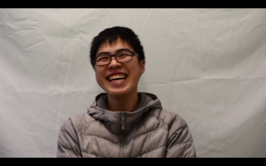 Senior Jack Tian laughs.