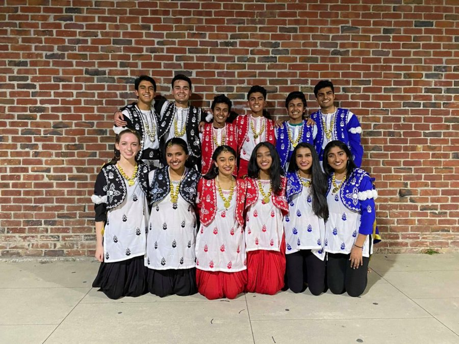 MV Bhangra after performing at Tashan, one of their earlier shows this semester, that took place during February. It will likely be their last show of the season. Photo used with permission of Janani Pandurangan