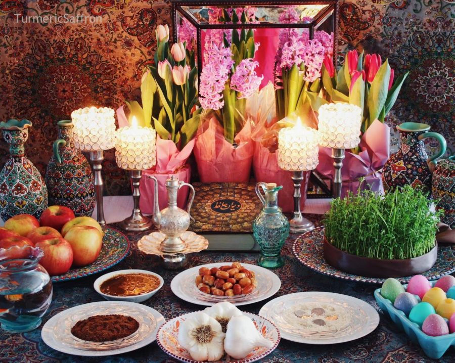 Nowruz, or Iranian New Year is one Persian custom that Zamani taught Persian Club members about
