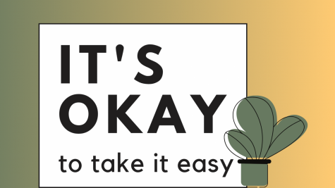 It's okay to take it easy