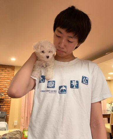 Mochi is junior Marvin Wu's family's first pet. Wu and his family play with her in their backyard.