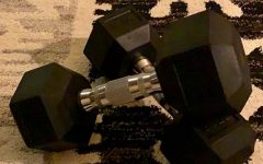 Akshat Debanth utilizes these dumbbells from home to stay fit.