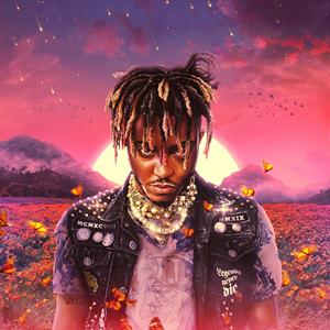 The album art for Juice WRLDs posthumous rap album Legends Never Die.
