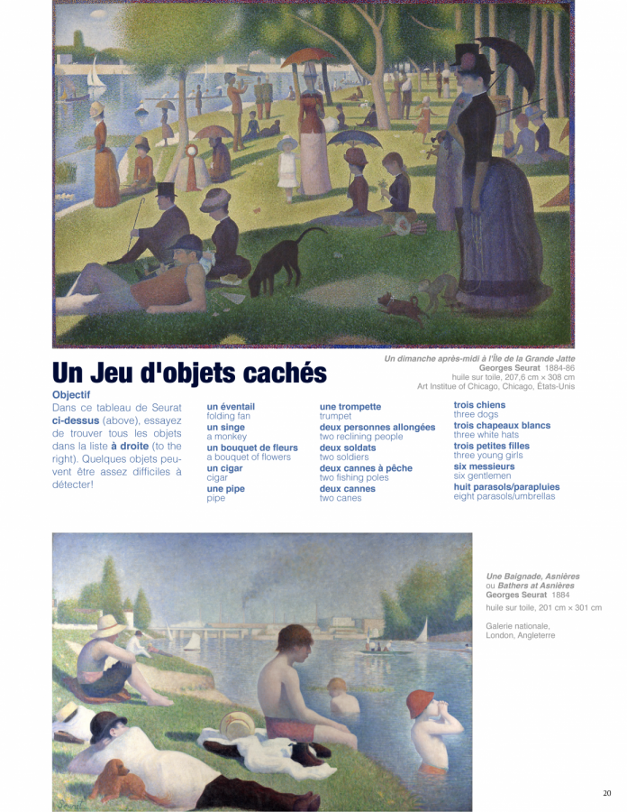 The second page of a sample spread in the second edition of Le Canard.
