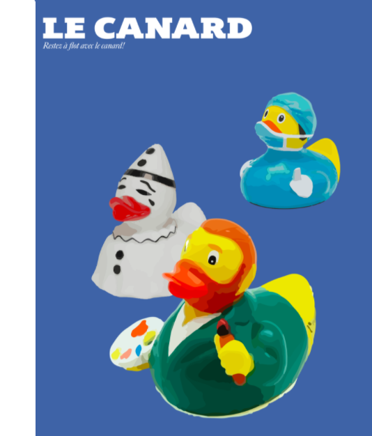 The cover of the second edition of Le Canard designed by senior Victor Li.