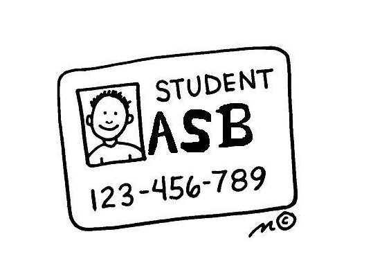 Graphic of an ASB card used to promote ASB cards on school website found on Infinite Loop.