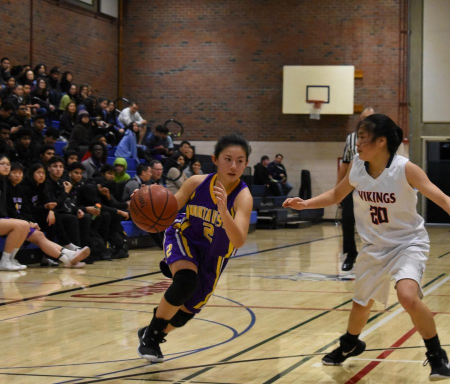 Kosakura dribbles past a defender in a game she played in on Jan. 4, 2019.