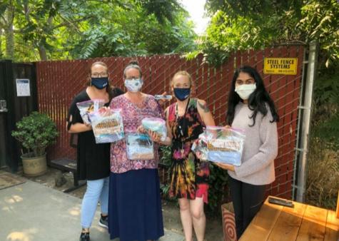 Photo by Raagavalli Karumanchi - Student run nonprofit Donate Essentials donates masks to frontline workers