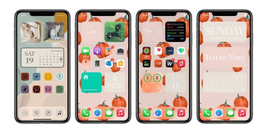 The+ability+to+personalize++home+screens+and+iPhone+interfaces+has+led+to+a+trend+following+the+release+of+iOS14.+Graphic+by+TechnoSports