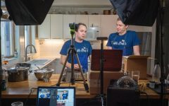 Truffle Shuffle cofounders Jason McKinney (left) and Tyler Vorce (right) host an online cooking class. Used with permission