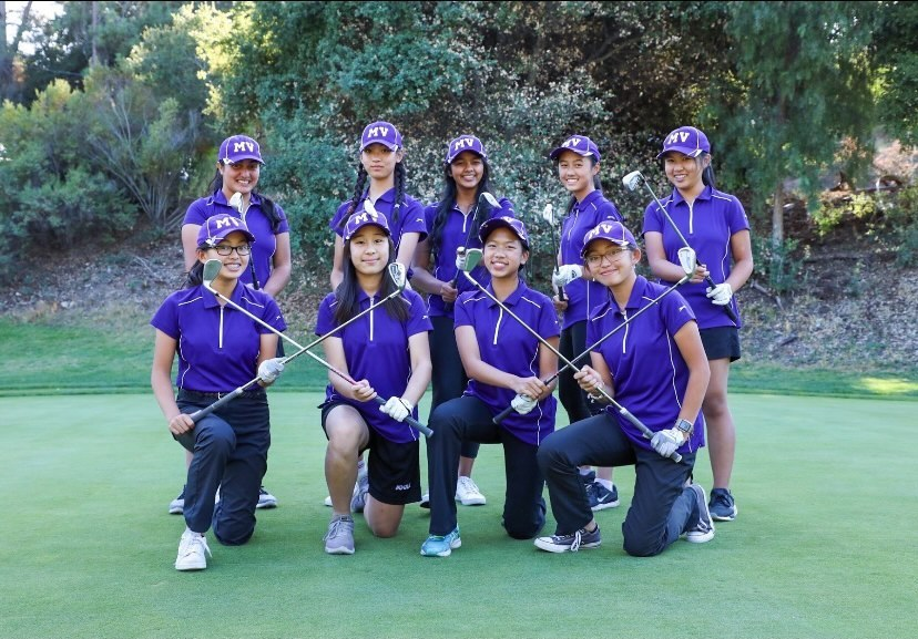 The Girls Golf team members poses in their uniforms last season.