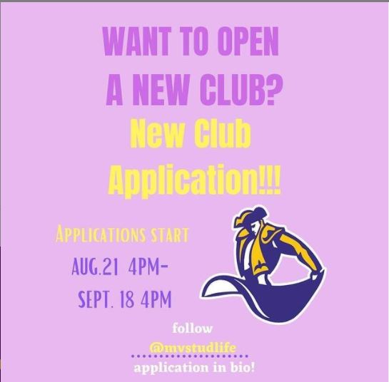 The application for MV Student Life's new Club opening.