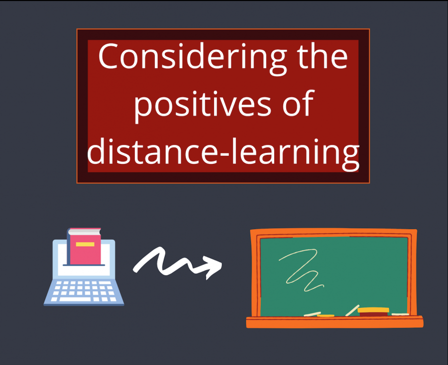 Considering the positives of distance learning - Graphic by Krish Dev