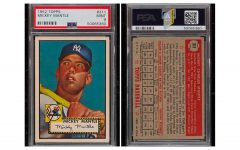 A 1952 Mickey Mantle Topps card sold for $5.2 million in November of 2020. | Photo from  Hypebeast