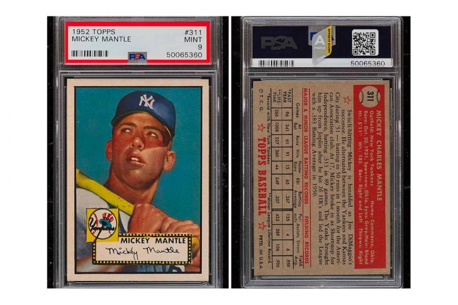A+1952+Mickey+Mantle+Topps+card+sold+for+%245.2+million+in+November+of+2020.+%7C+Photo+from++Hypebeast