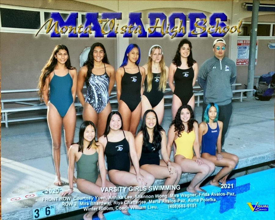 Chatterjee believes that the swim team has been the most connected during her time as a senior due to the fact that the team was smaller due to COVID-19.(Photo courtesy of Riya Chatterjee | Used with permission)