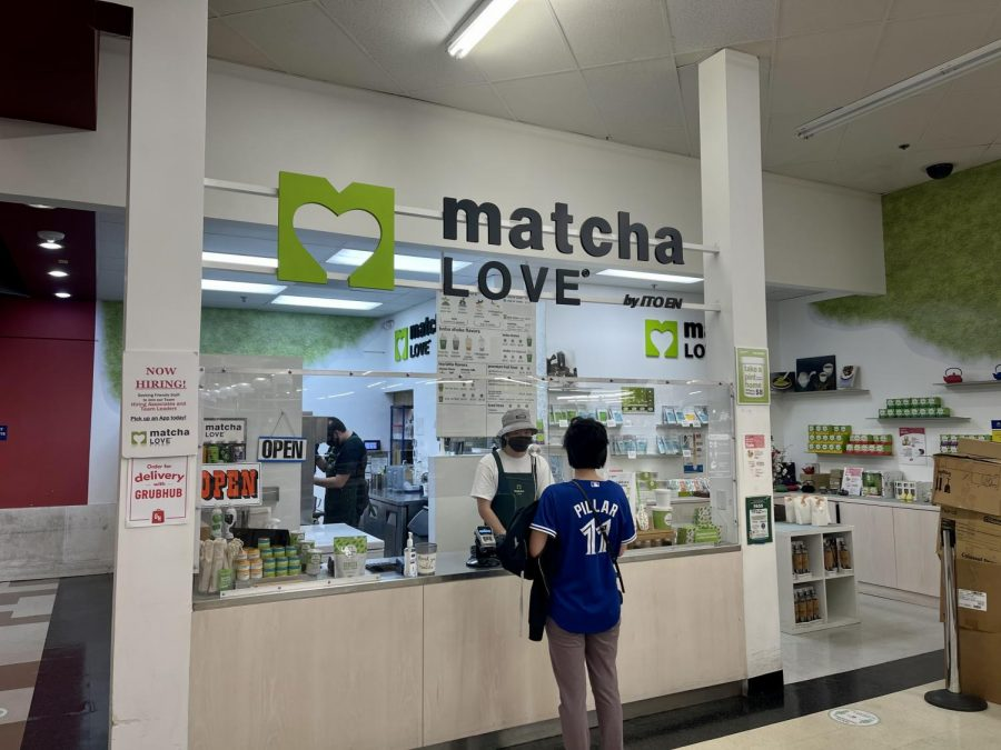 The front cash register area of Matcha Love located in San Jose, Calif.
