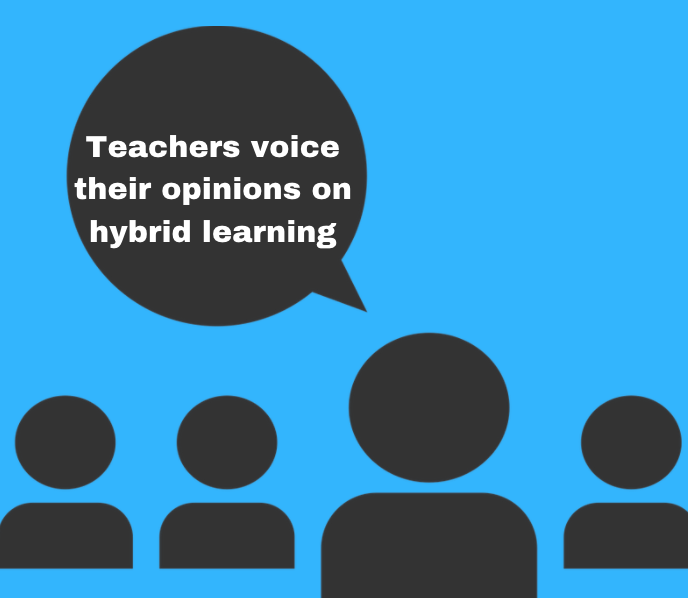 Three teachers give their thoughts on the transition to hybrid learning.
