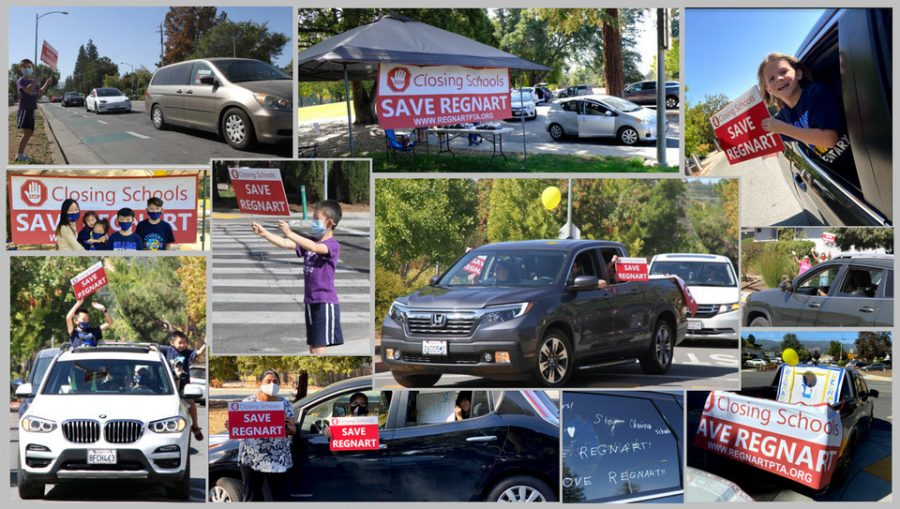 The Save Regnart car rallies drew support from students and parents alike.