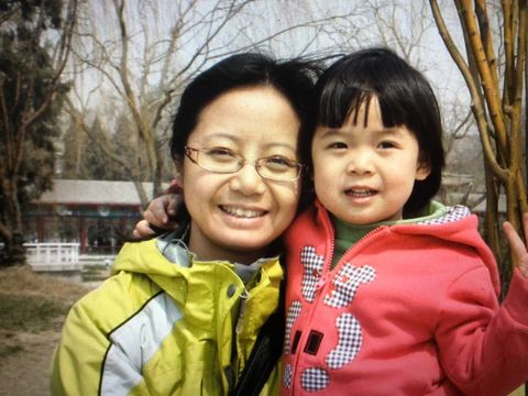 Freshman Jennifer Long and her mother Catherine visit a water park in China when Long was three years old.
