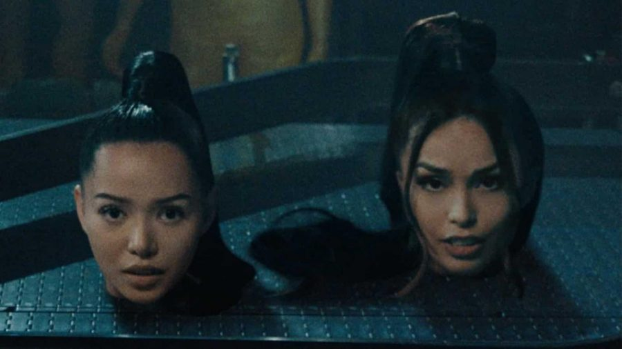 Poarch and Valkyrae in the music video.