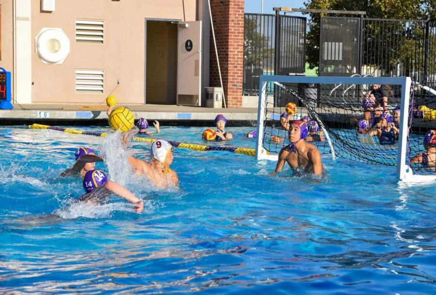 Capitan and senior Ryan Hong prepares to block a goal from CHS. Photo by Melody Cui
